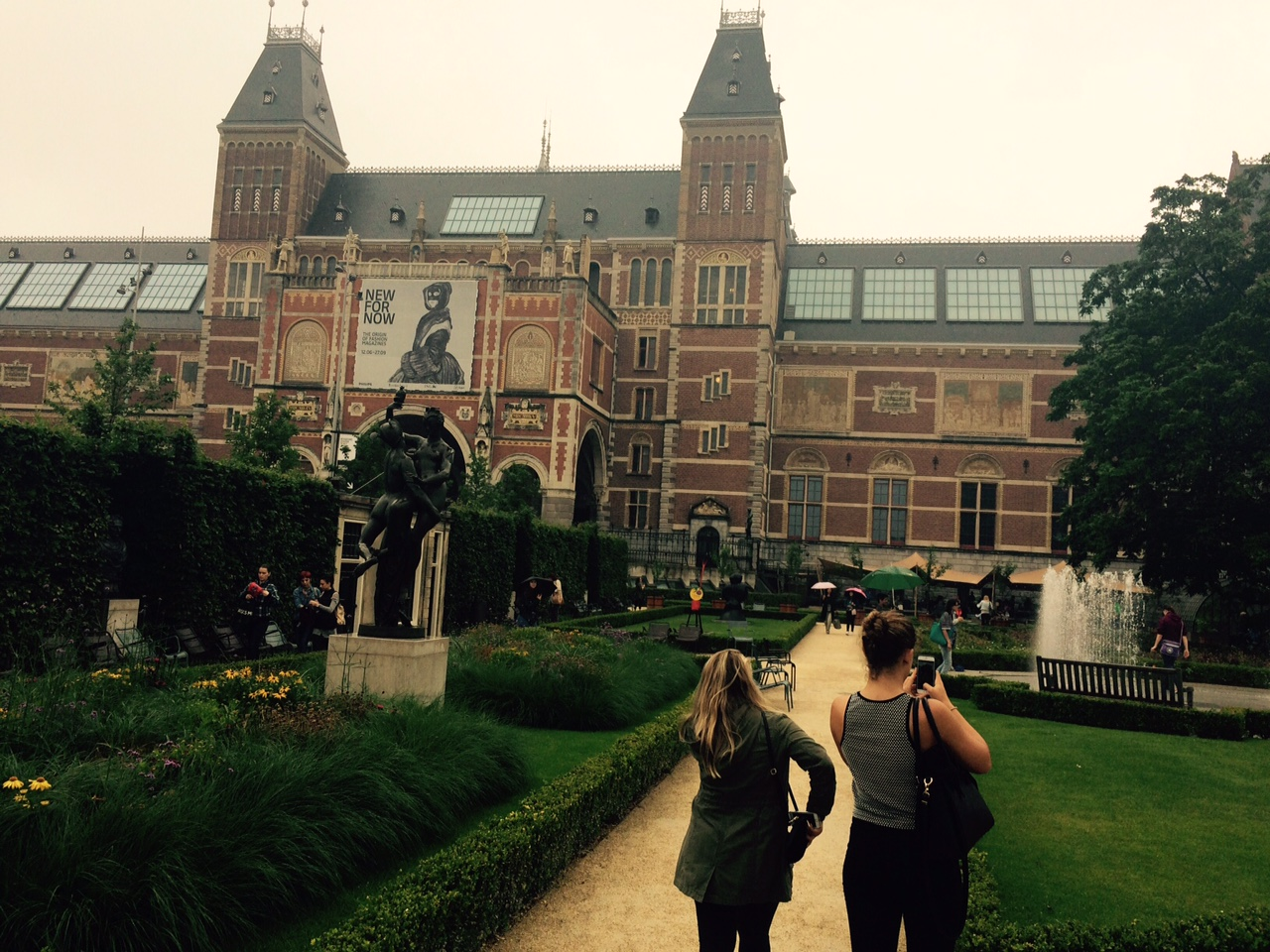 The museum's surrounded by a gorgeous park.  The Dutch are proud of their brick work, and for good reason.  The architecture here is stunning.