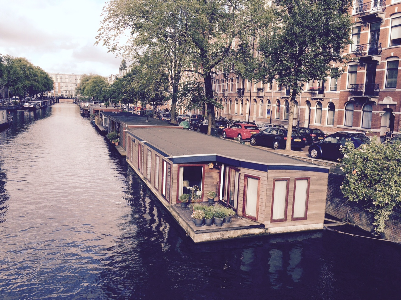 Fabulous houseboats along one of the canals.