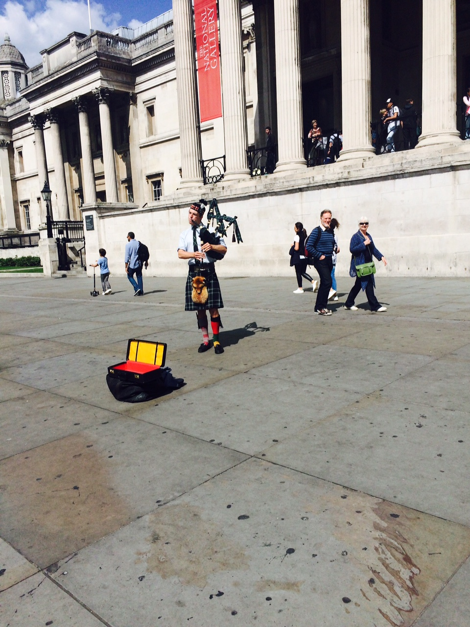 Bag pipes outside The National Gallery.  This guy was amazing.