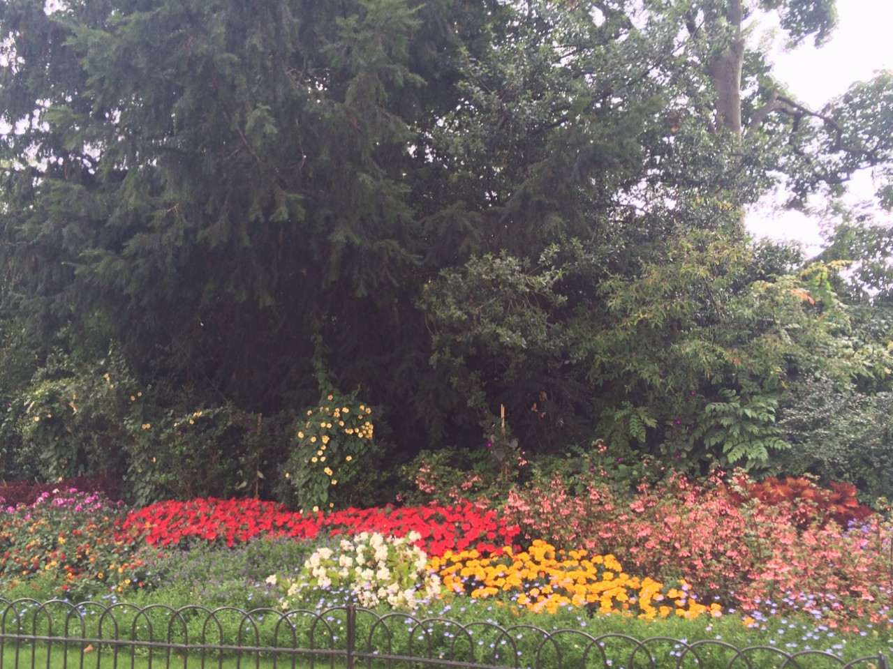 Outer border of St. James Park.