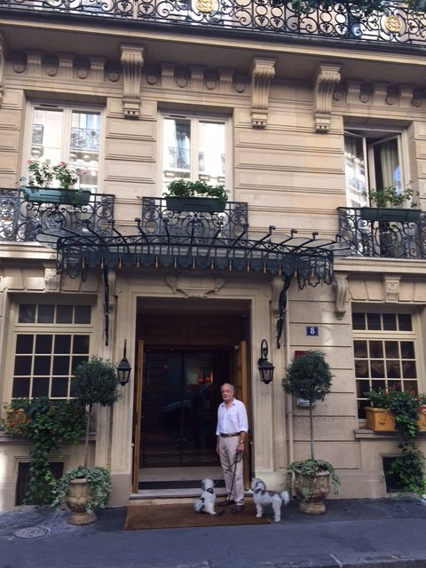 The front of our charming hotel.