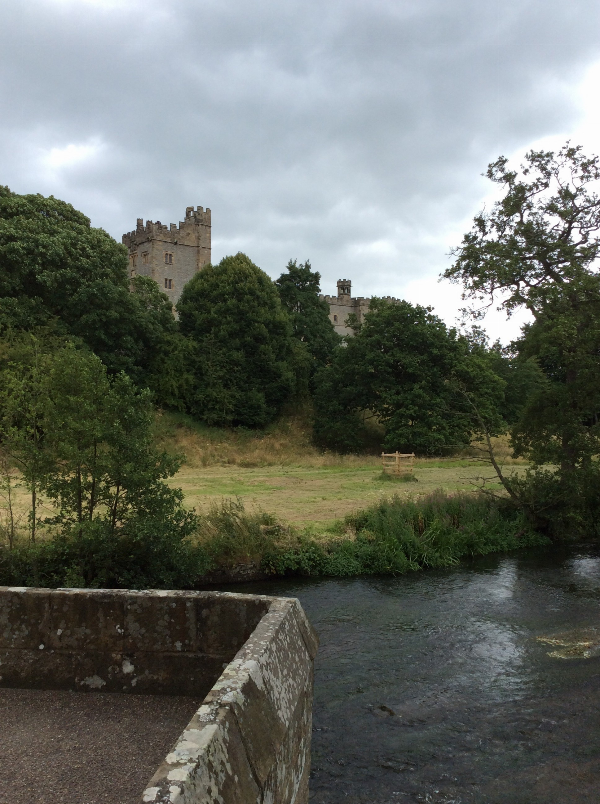 Looking at Haddon from the River Wye.