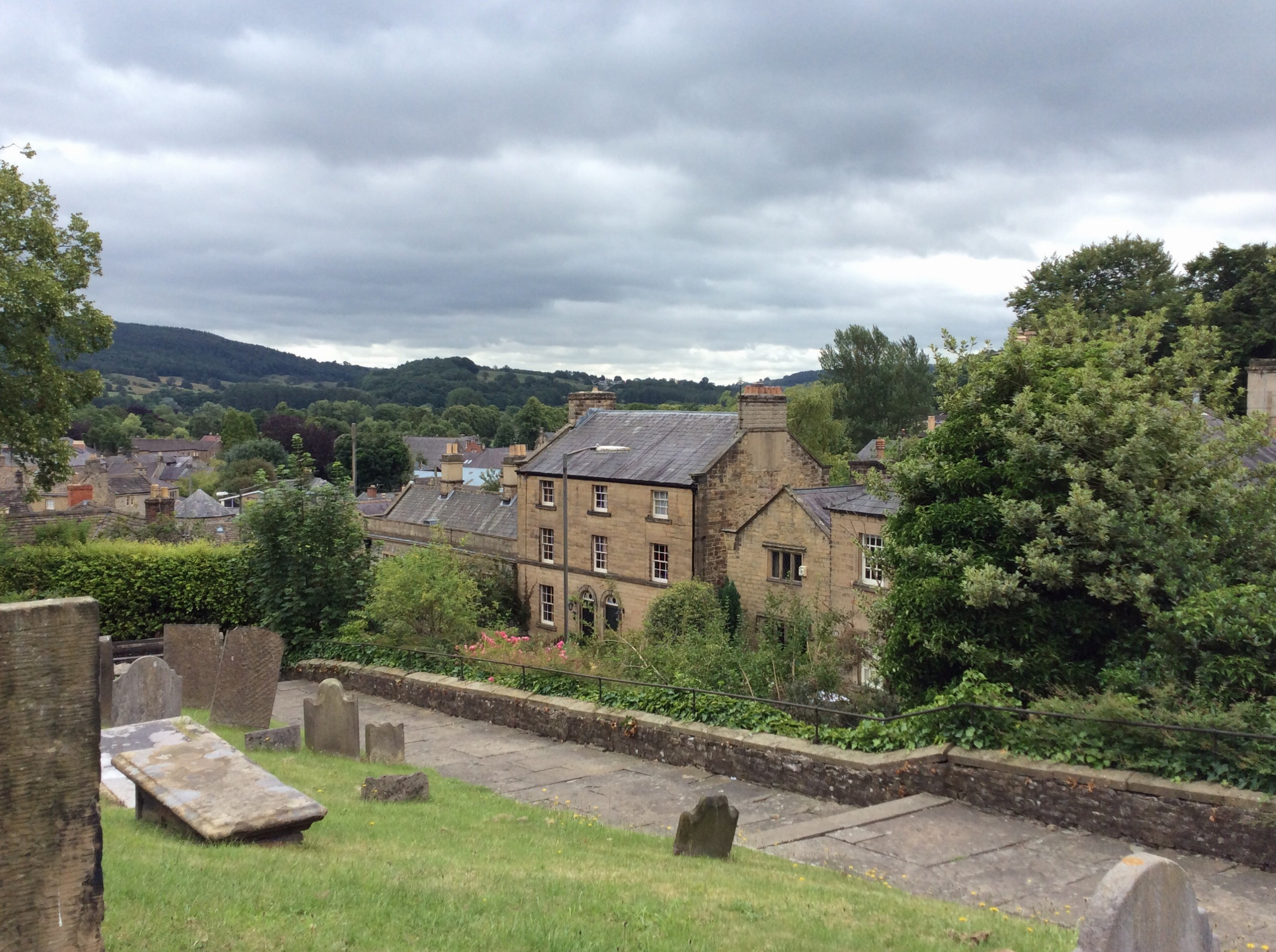 Looking out on charming village of Bakewell.
