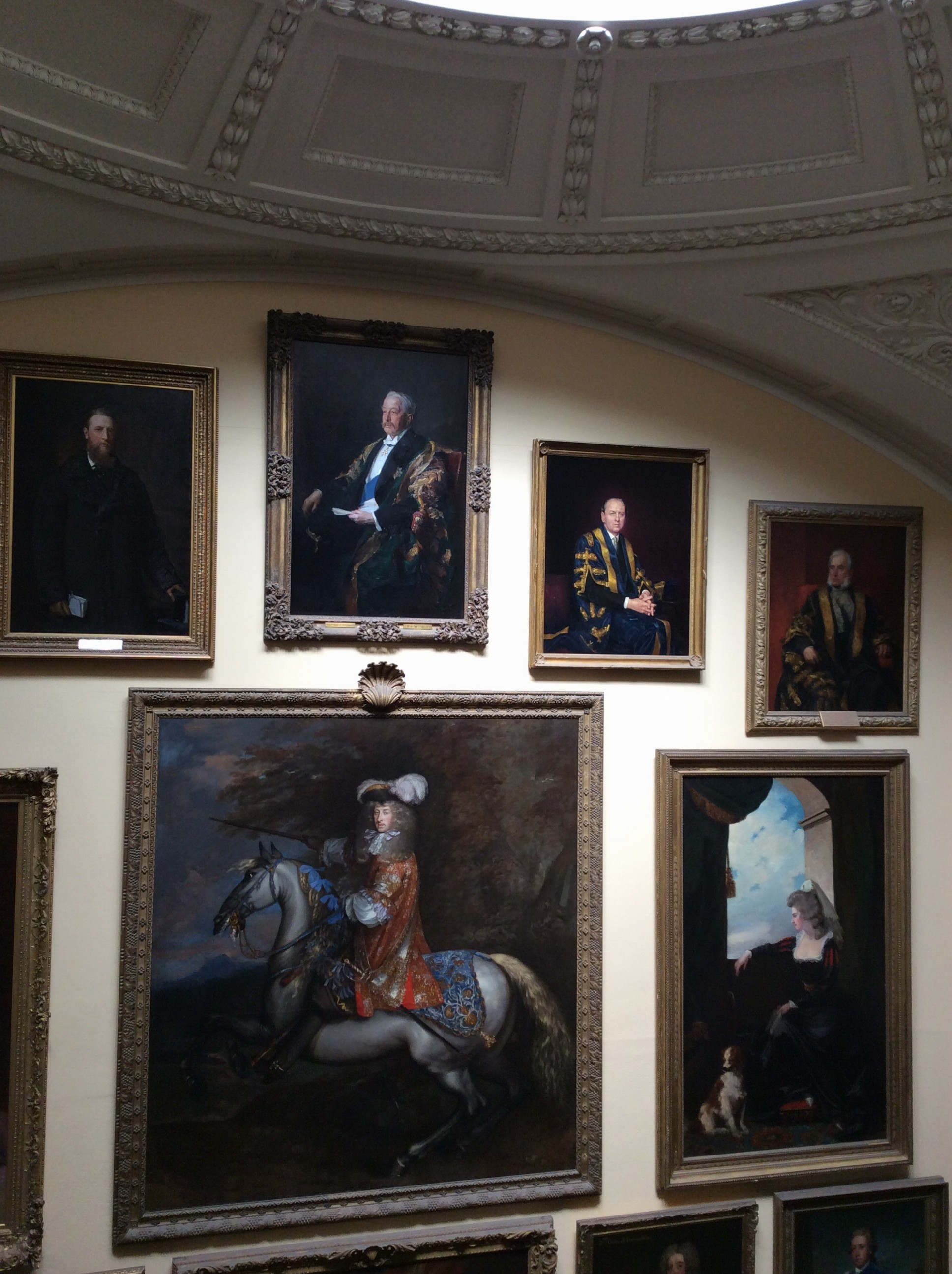 Paintings of the former Dukes and family members who lived in Chatsworth.  To this day, the current Duke owns most of the countryside of Chatsworth. The art throughout the house was remarkable, paintings by people like Singer Sargent and Gainsborough.