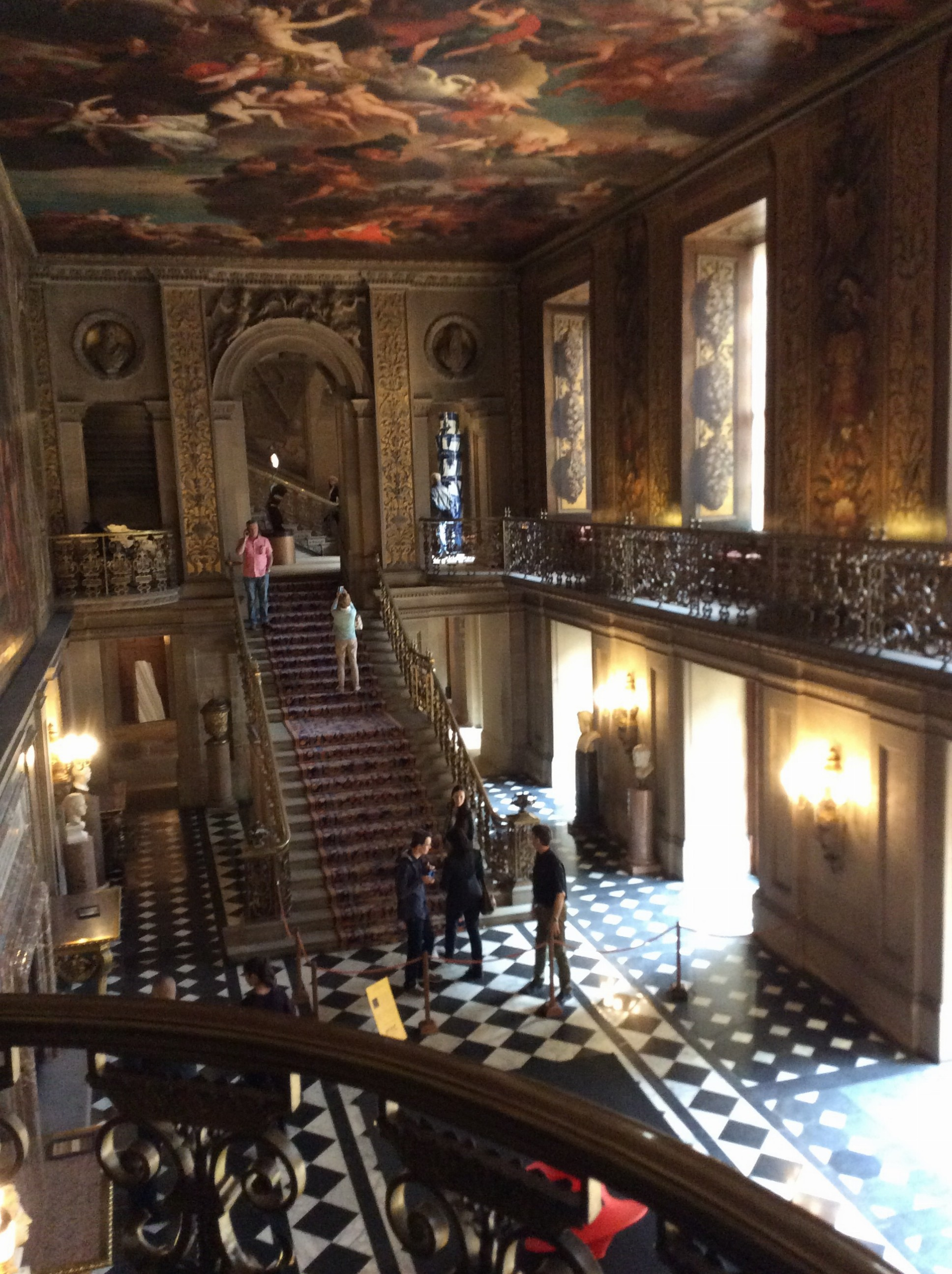 The main staircase in the house.