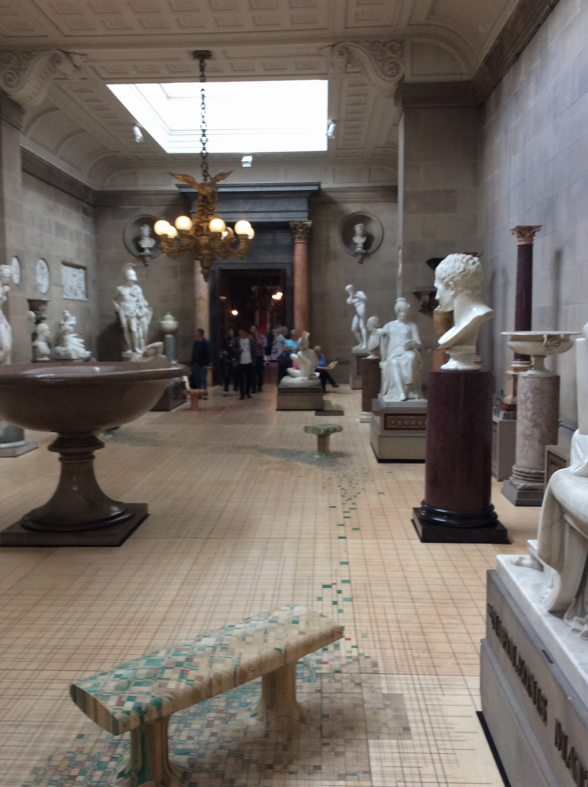 Its own sculpture gallery.
