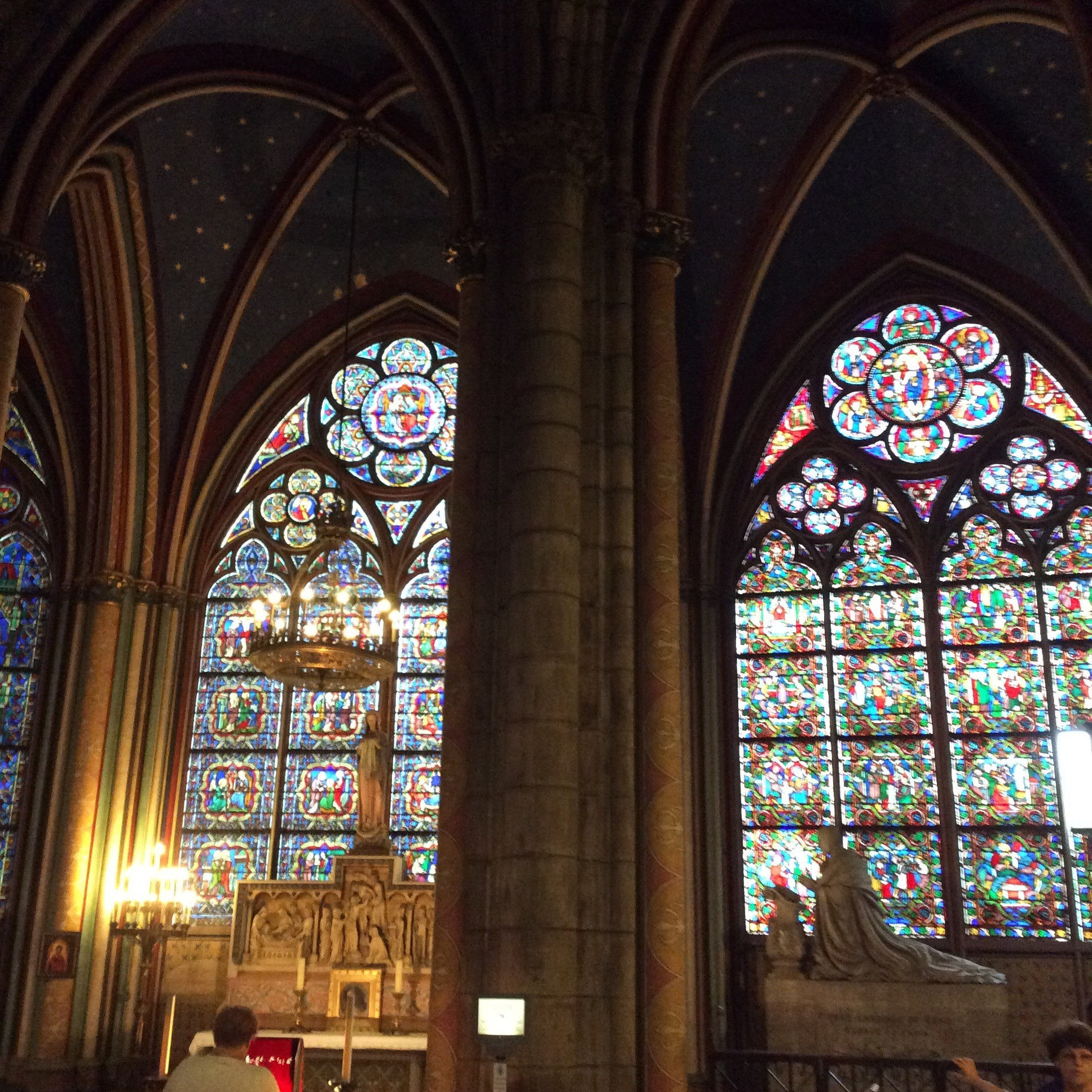 Notre Dame's stained glass windows are the most beautiful I've ever seen.